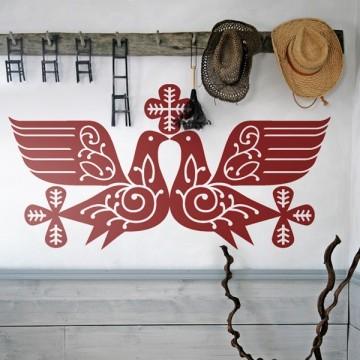 Naklejka folk gołębie