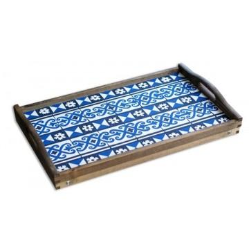 """Taca drewniana """" Azulejos"""" z nóżkami"""