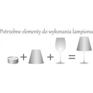 Lampion - klosz łowicz biały