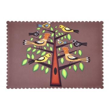 Podkładka dudki na drzewie