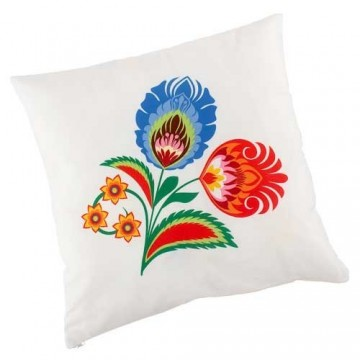 Dwustronna poduszka kogut w kwiatach