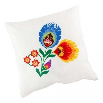 Dwustronna poduszka kwiaty folk