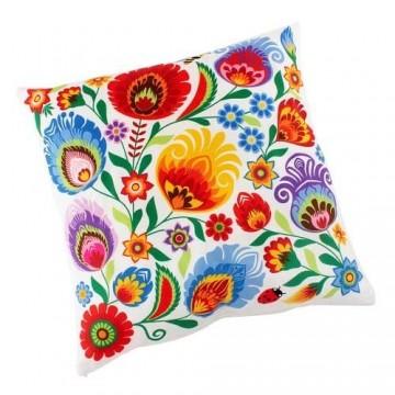Dwustronna poduszka kwiaty folk 2