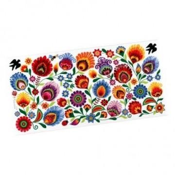 Dekor łowicki kwiaty