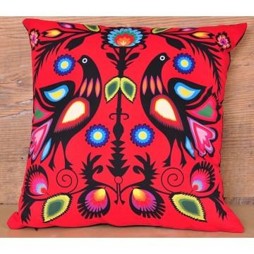 Poduszka ludowe gołębie czerwień