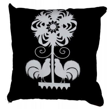 Poduszka kodra czarno- biała