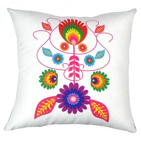 Folk poduszka kwiaty mix