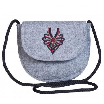 Filcowa torebka podkówka parzenica