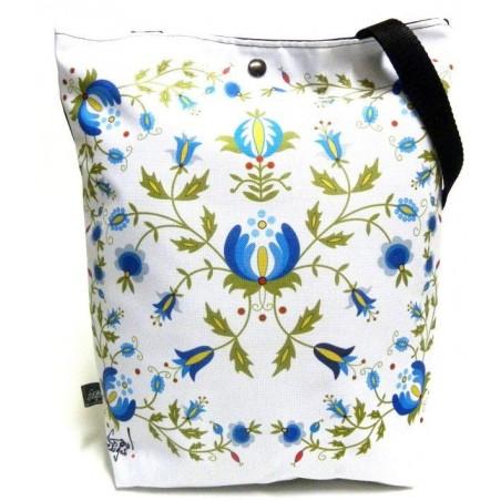 Folk torba kaszuby biała