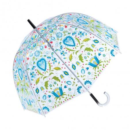 Folk parasol kaszuby bąbel