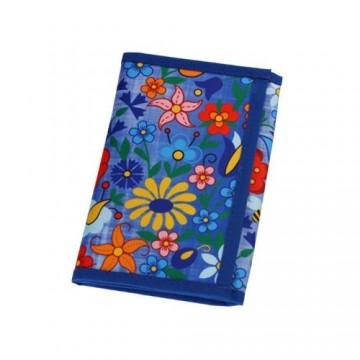 Folk portfel kaszuby błękit mały