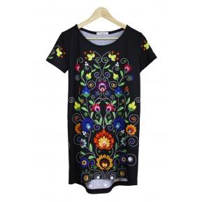 Sukienka czarna colourfolk