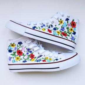 Folk trampki polne kwiaty