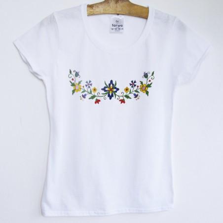 Malowana koszulka kociewska
