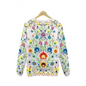 Folk bluza kwiatowy colourfolk biała