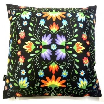 Folk poduszka kwiaty ornament