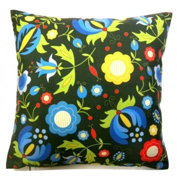 Kokofolk - folkowa poduszka kaszuby kwiaty