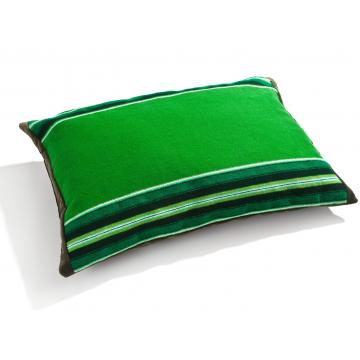 Poduszka pasiak zielony