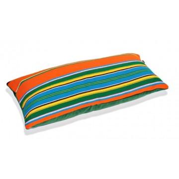 Poduszka pasiak pomarańczowo zielony