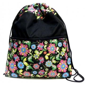 Folk plecak - worek kwiaty