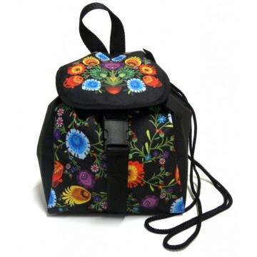 Folk plecak kwiaty łowicz