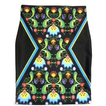 Spódnica ołówkowa folk ornament