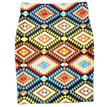 Spódnica ołówkowa romby