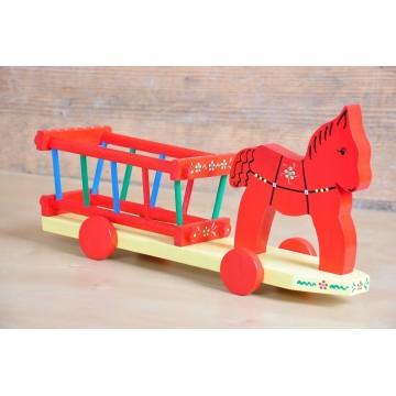 Ludowa bryczka z koniem