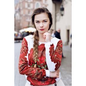 Folk bluza bukiet góralski