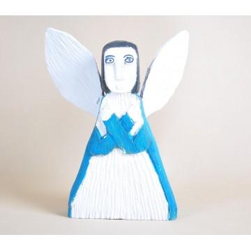 Anioł niebiesko-biały