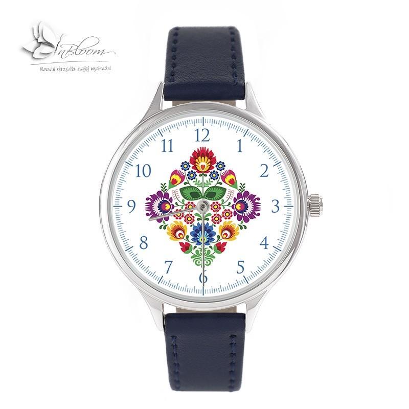 Folk 1 zegarek łowickie kwiaty