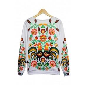 Folk bluza z łowickim wzorem