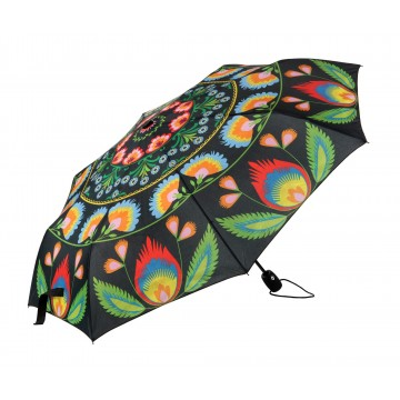 Parasol folk czarny automat