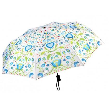 Parasol kaszuby biały krótki