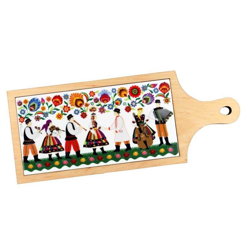 Kokofolk -  łowicka deska ozdobna łowickie wesele