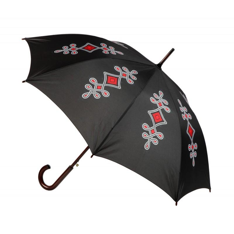 Parasol folk czarny parzenica