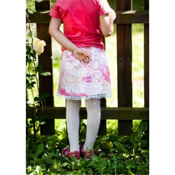Spódnica dziecięca kwiaty łowicz