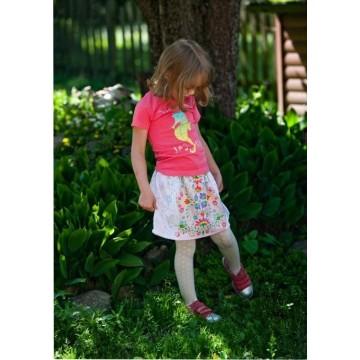 Spódnica dziecięca kwiaty łąka