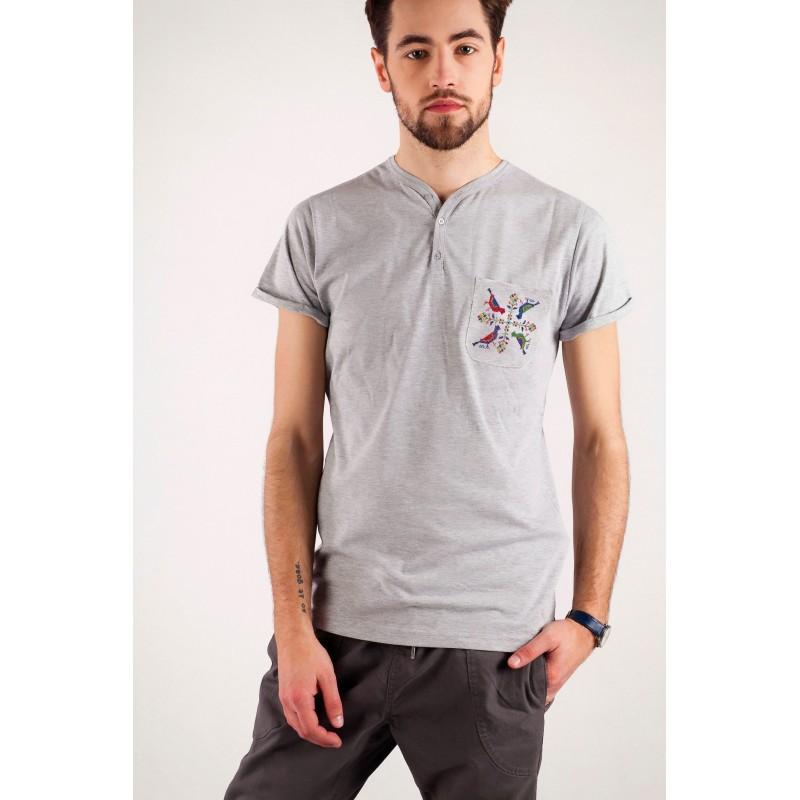 T-shirt męski haft opoczyński