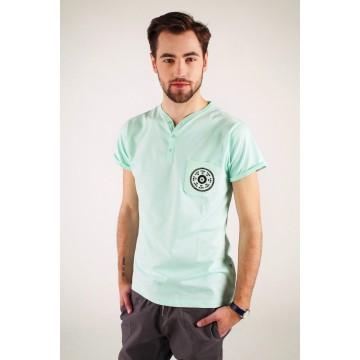 T-shirt mięta haft kurpiowski