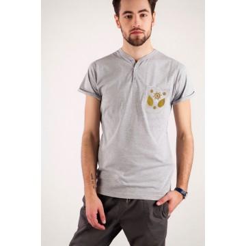 T-shirt szara haft mazowiecki