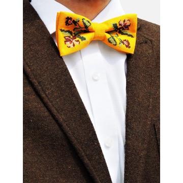 Mucha żółta haft łowicki