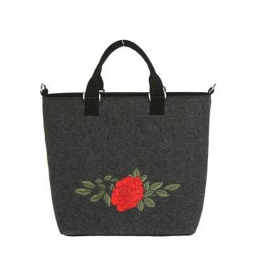 Filcowa torba ludowa róża