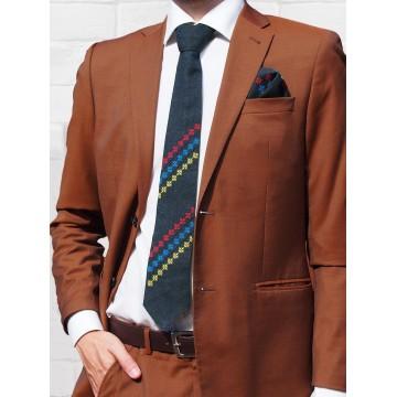 Folk krawat haft lubelski