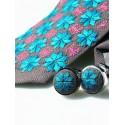 kokofolk- Zestaw krawat i spinki haft włodawski
