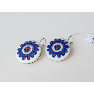 Kolczyki haft łemkowski