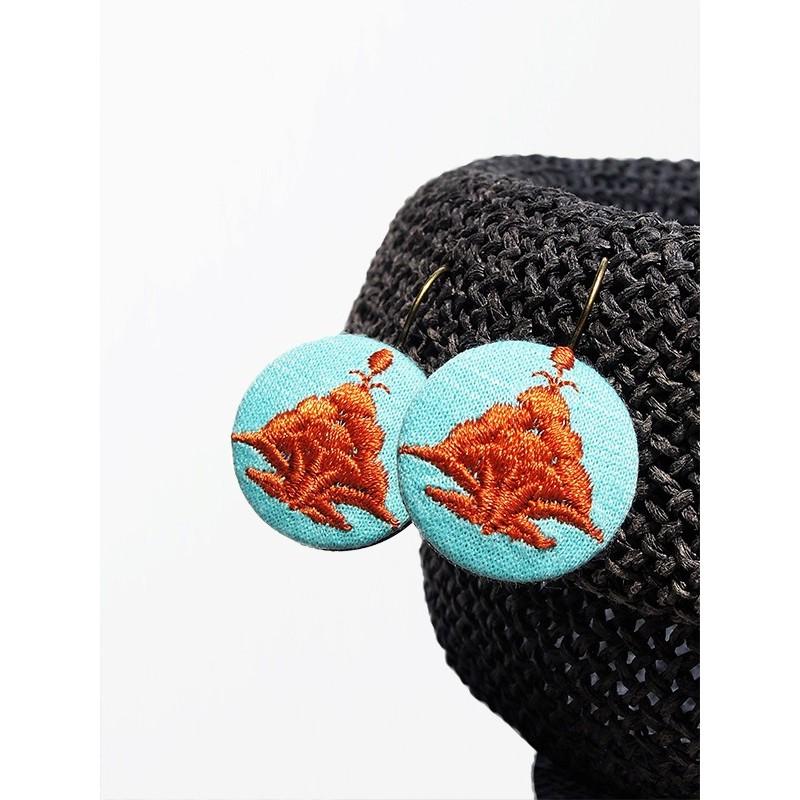 Kolczyki  haft kaszubski