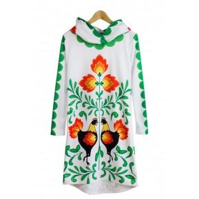Sukienka z kapturem white folk