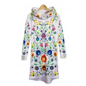 Sukienka z kapturem colourfolk