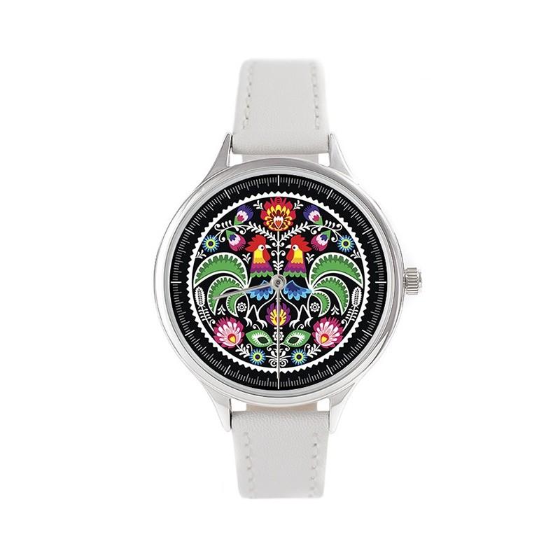 Ludowy zegarek czarny